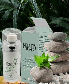 Felicity Organics spa scene green plant